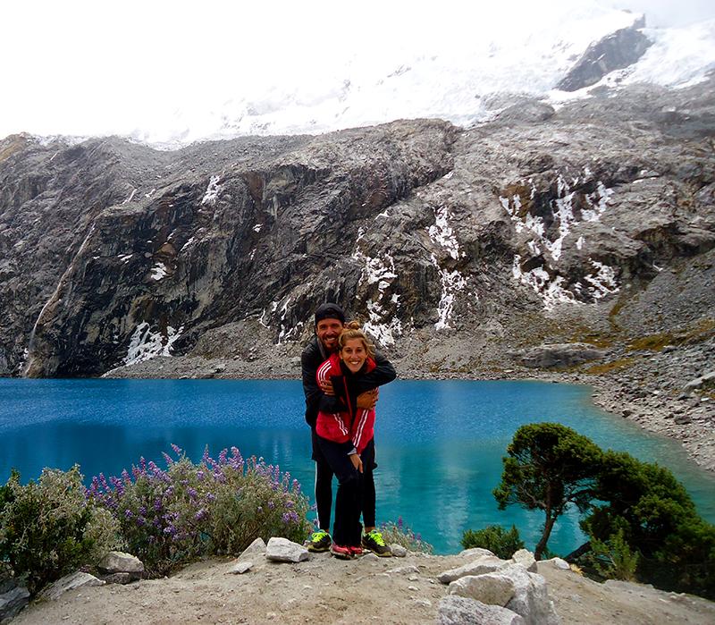 Laguna 69 y glaciar