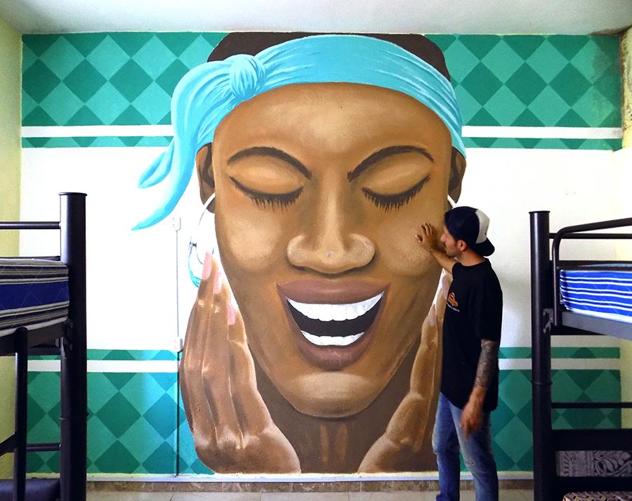 Mural en Puerto Morelos, México