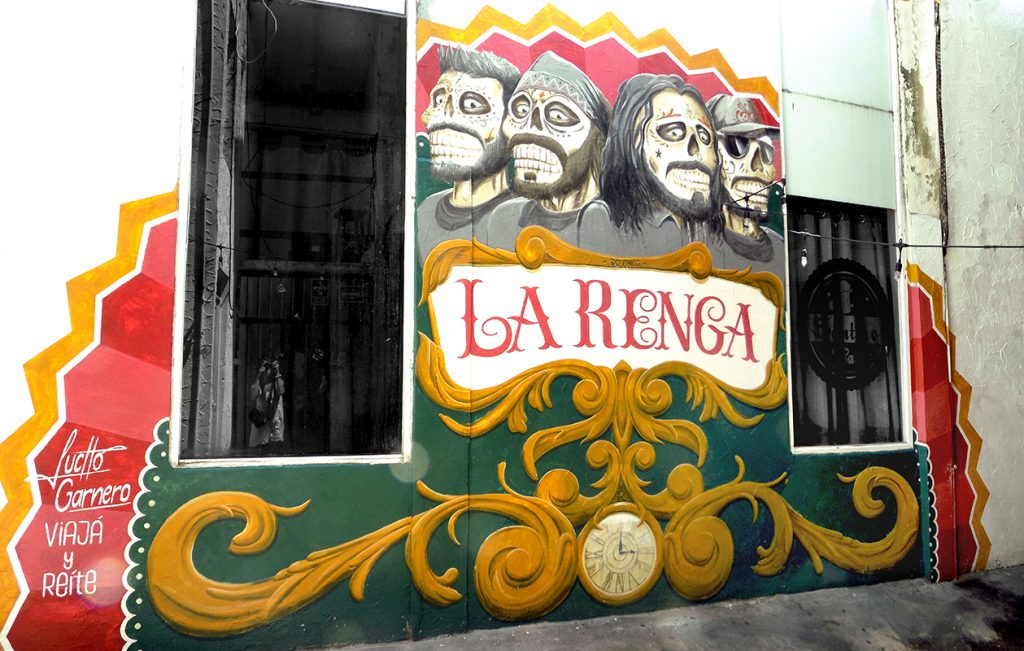 Mural La Renga, Playa del Carmen México