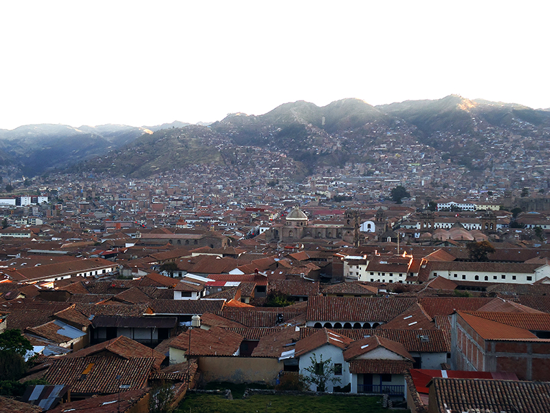 Vista panorámica de Cusco
